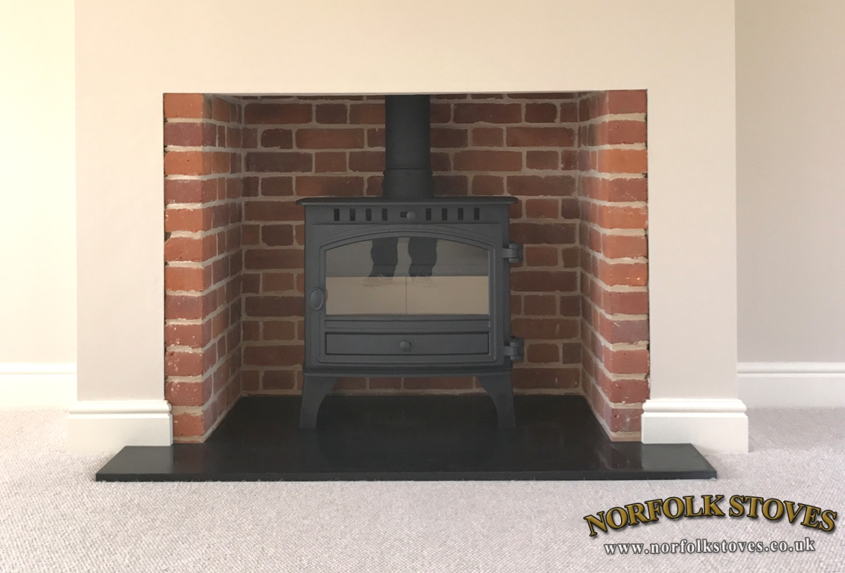 Hunter Herald 8, Slim-line, Wood Burner, single door model