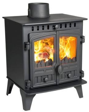 Hunter Herald 4, double door multi-fuel stove