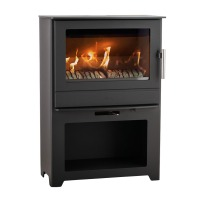 The Heta Inspire 55 Mulifuel Stove on stand