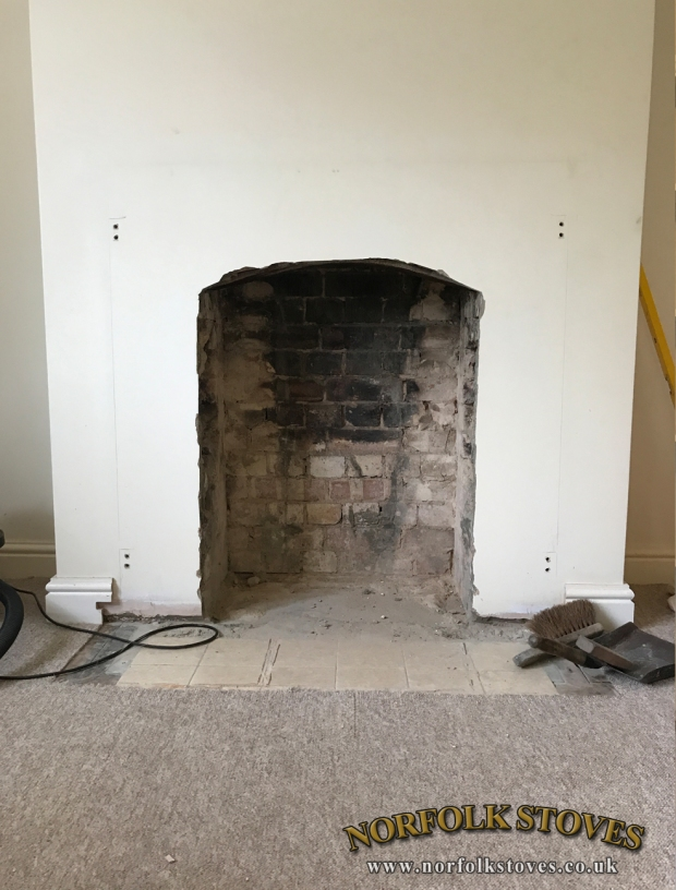 Opening up a fireplace