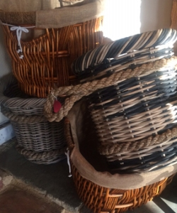 A large Selection of wood baskets