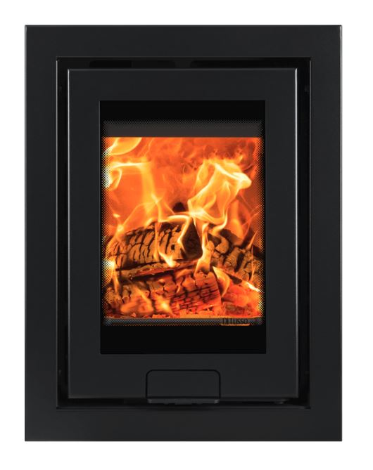 Di Lusso R4 Inset, Wood Burner, 4 sided frame