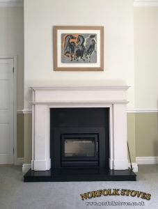 Stovax Riva 50 Multi-fuel stove with a three sided frame