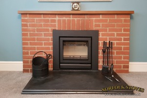 Stovax Riva 50 Inset, Multi-fuel stove with a 3 sided frame