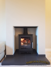 Heta Inspire 40 Multifuel Stove Tiled Hearth