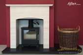 Heta Inspire 45 with custom Surround and hearth