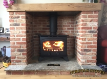 Yeoman County Wood Burning Stove with Beam