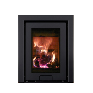 "The Di Lusso R4 Inset is a flush fitting inset stove built to fit into a 16"" x 22"" fireplace. Excellent efficiency and flame picture."